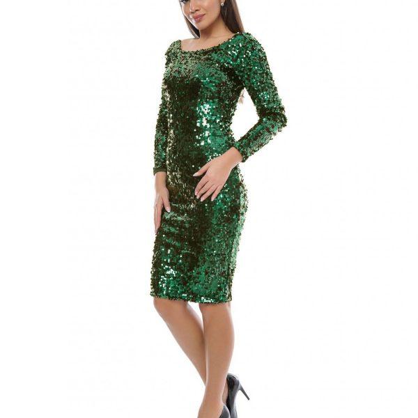 rochie paiete verde big mag