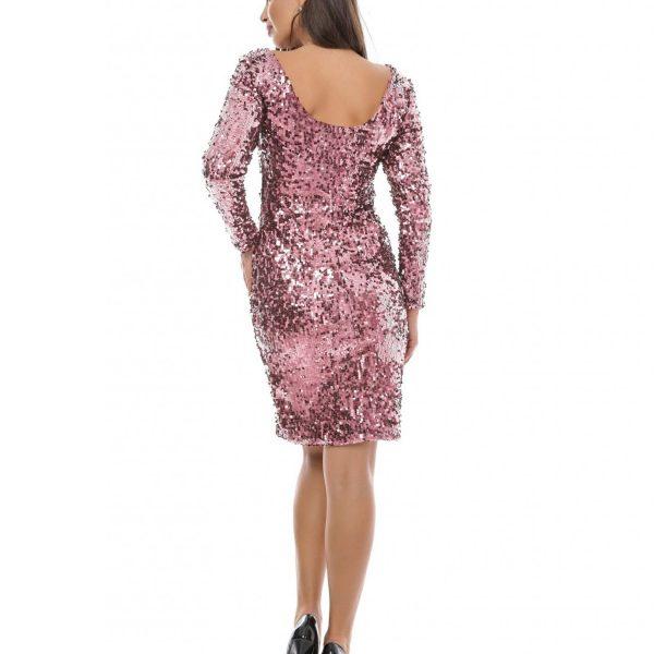 rochie paiete roz big mag