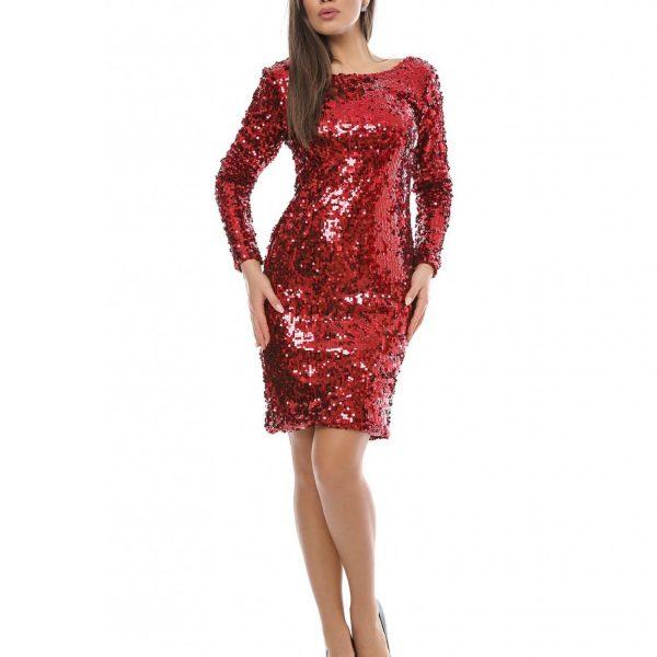rochie paiete rosie