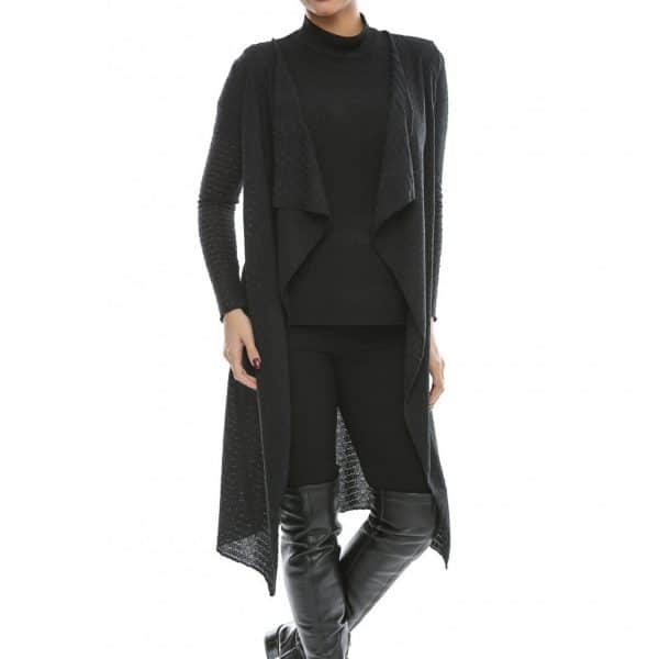 Cardigan negru elegant big mag