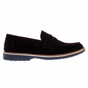 Pantofi barbati Clark negru fara sireturi