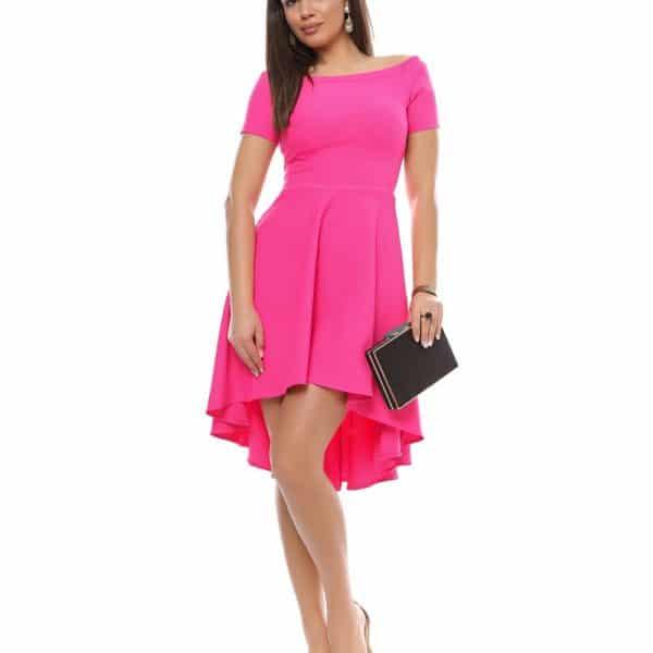Rochie roz cu trena pentru ocazii big mag