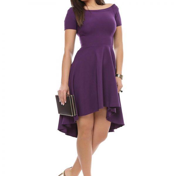 Rochie violet cu trena pentru ocazii big mag