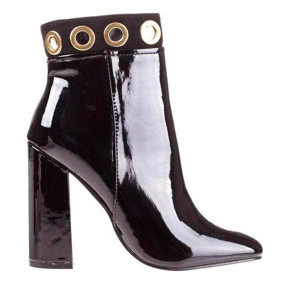 Pantofi eleganti cu toc dama negri