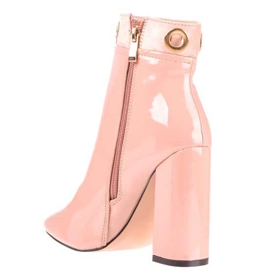Pantofi eleganti cu toc dama roz