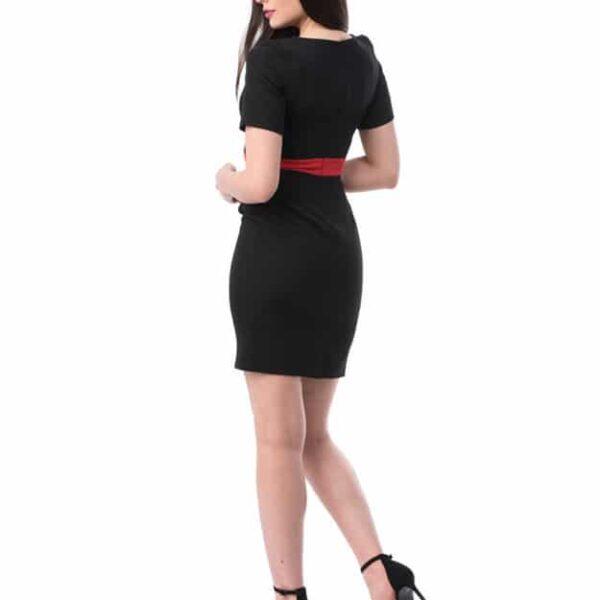 Rochie cu mânecă scurtă ușor elastică