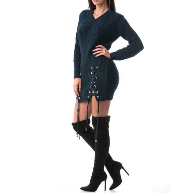 Rochie din material tricotat, confortabila MODEL NOU